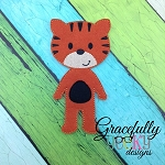 Tiger BOY Dress up Doll - Embroidery Design 5x7 hoop or larger (COPY)