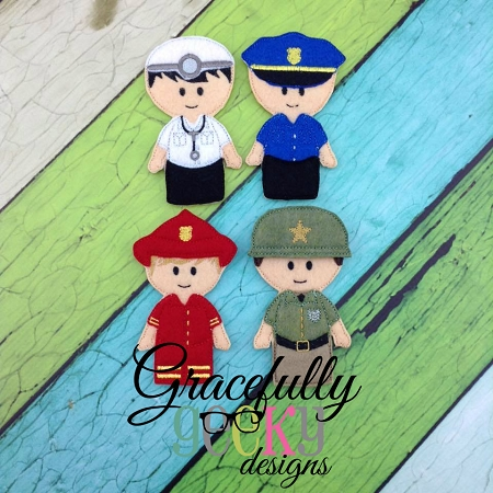 Every Day Heroes Finger Puppet Embroidery Design 4x4