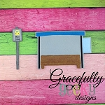 Bus Stop- Embroidery Design 5x7 hoop or larger