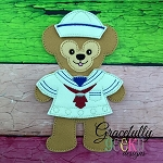 Bear Doll With 1 Outfit- Embroidery Design 5x7 hoop or larger