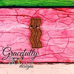 Bacon Feltie ITH Embroidery Design 4x4 hoop (and larger)