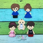 Family Finger Puppet SET   Embroidery Design - 4x4 Hoop or Larger
