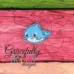 Baby Whale Feltie ITH Embroidery Design 4x4 hoop (and larger)