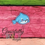 Baby Whale 3 Feltie ITH Embroidery Design 4x4 hoop (and larger)