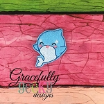 Baby Whale 4 Feltie ITH Embroidery Design 4x4 hoop (and larger)