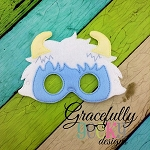 Yeti Mask Mask Embroidery Design - 5x7 Hoop or Larger