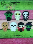 Halloween 2015 Finger Puppet Embroidery Design - 4x4 Hoop or Larger