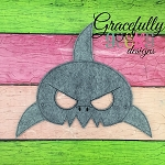Shark Mask Mask Embroidery Design - 5x7 Hoop or Larger 2 hoopings