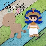 Pharaoh Dress up Doll Plus Companion - Embroidery Design 5x7 hoop or larger   (COPY)