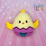 Chick Easter Egg Stuffie Embroidery Design - 5x7 Hoop or Larger