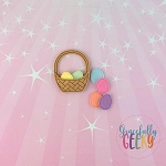 In the Hoop Easter Basket Feltie  Embroidery Design 4x4 hoop (and larger)