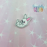 Egg Hunt Bunny 3 Feltie ITH Embroidery Design 4x4 hoop (and larger)