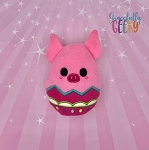 Pig Easter Egg Stuffie Embroidery Design - 5x7 Hoop or Larger