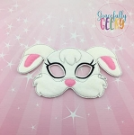 Rabbit Mask Embroidery Design - 5x7 Hoop or Larger