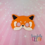 Red Panda Mask Embroidery Design - 5x7 Hoop or Larger