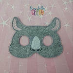 Rhinoceros Mask Embroidery Design - 5x7 Hoop or Larger
