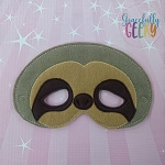 Sloth Mask Embroidery Design - 5x7 Hoop or Larger