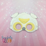 Snowy Owl Mask Embroidery Design - 5x7 Hoop or Larger