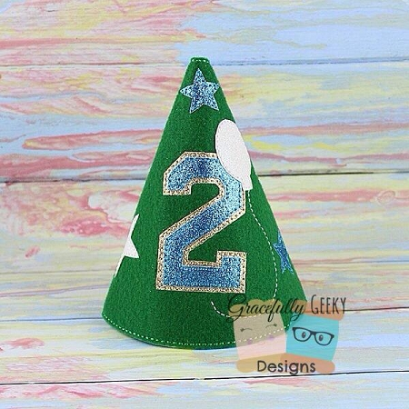 2nd Birthday Hat ITH Embroidery Design
