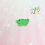 Alligator Feltie ITH Embroidery Design 4x4 hoop (and larger)