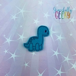 Brontosaurus Feltie ITH Embroidery Design 4x4 hoop (and larger)