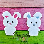 Bunny Finger Puppet Embroidery Design - 4x4 Hoop or Larger