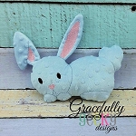 Bitsy Bunny Stuffie ITH Embroidery Design - 5x7 Hoop or larger