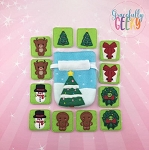 Christmas Memory Game Drawstring Bag Embroidery Design - 5x7 Hoop or Larger Release: Dec14 DecW1