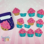 Cupcake Drawstring Bag Embroidery Design - 5x7 Hoop or Larger Release: Nov26 OCTW2