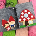 Gnomes Quiet Book Page Embroidery Design - 5x7 Hoop or Larger