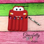 Race car Crayon Holder Embroidery Design - 5x7 Hoop or Larger