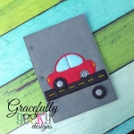 Car Quiet Book Page Embroidery Design - 5x7 Hoop or Larger