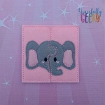 Elephant Toddler 4x4 Hoop Puzzle Embroidery Design
