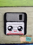 Floppy Disk Feltie Embroidery Design