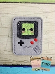Gameboy videogame Feltie Embroidery Design