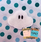 Kawaii Cloud Feltie Embroidery Design