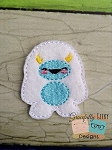 Yeti Feltie Embroidery Design