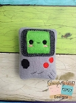 Gameboy Videogame Stuffie Embroidery Design