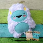 Yeti Stuffie Embroidery Design