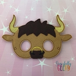 Bull Mask  Embroidery Design - 5x7 Hoop or Larger