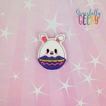 Bunny Easter Egg Feltie ITH Embroidery Design 4x4 hoop (and larger)