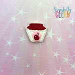 Cherry Jam Feltie ITH Embroidery Design 4x4 hoop (and larger)