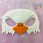 Eagle Mask  Embroidery Design - 5x7 Hoop or Larger