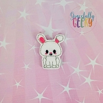 Kawaii Bunny Feltie ITH Embroidery Design 4x4 hoop (and larger)
