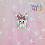Kawaii Bunny Floral Feltie ITH Embroidery Design 4x4 hoop (and larger)