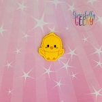 Kawaii Chick Feltie ITH Embroidery Design 4x4 hoop (and larger)