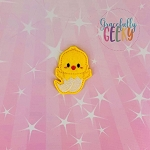 Kawaii Chick In Egg Feltie ITH Embroidery Design 4x4 hoop (and larger)