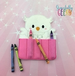 Owl 2 Crayon Holder Embroidery Design - 5x7 Hoop or Larger