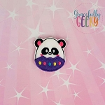 Panda Easter Egg Feltie ITH Embroidery Design 4x4 hoop (and larger)