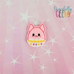 Pig Easter Egg Feltie ITH Embroidery Design 4x4 hoop (and larger)